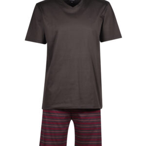 Woody Heren pyjama, anthraciet