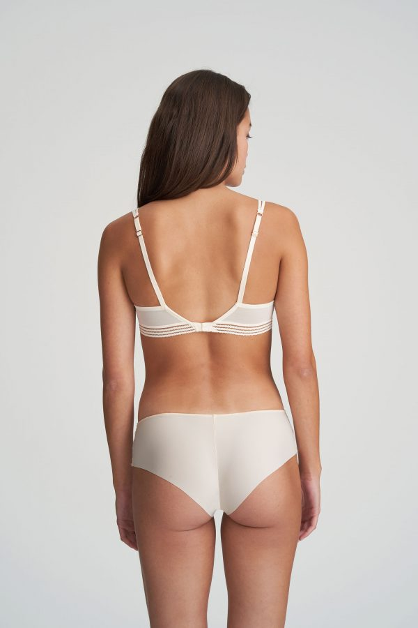 NATHY Pearled Ivory balconnet mousse met naad