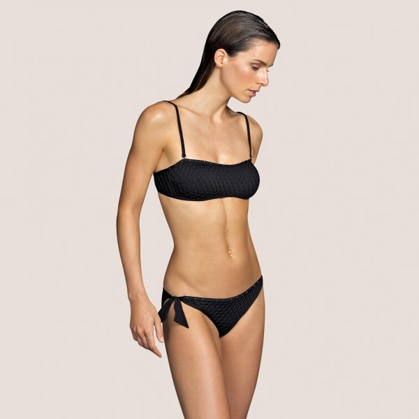 KATHRYN zwart strapless bikini met mousse