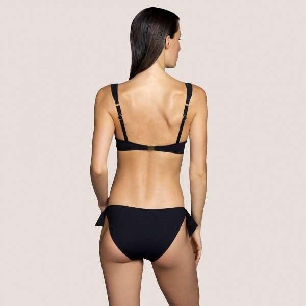 KATHRYN zwart bikini heupslip met koordjes