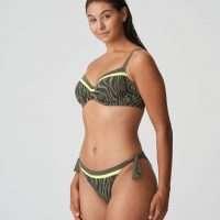 ATUONA Fluo jungle bikini beugel bh met plooitjes