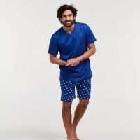 Woody Heren pyjama, blauw octopus