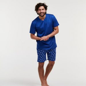 Woody Heren pyjama, blauw octopus