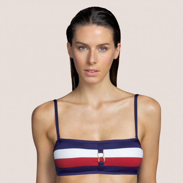 MEGAN Water Blue strapless bikini met mousse