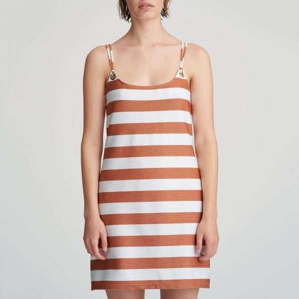 FERNANDA Summer copper badmode kort jurkje