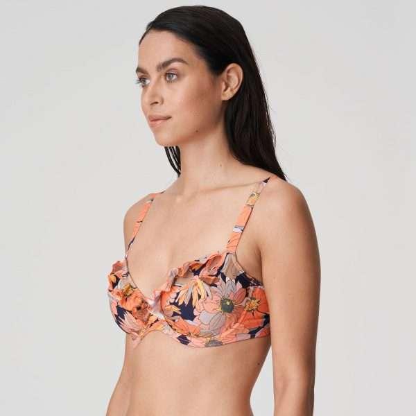 MELANESIA Coral flower bikini bh met tulpsnit