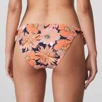 MELANESIA Coral flower bikini heupslip met koordjes