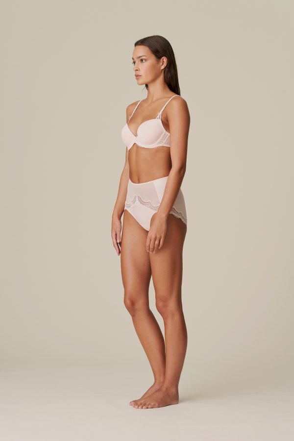 DOLORES glossy pink tailleslip