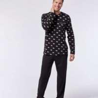 Woody Heren pyjama, bruin ijsbeer