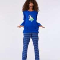 Woody Meisjes-Dames pyjama, blauw