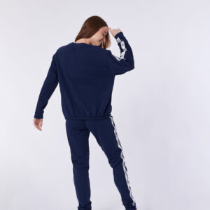 Woody Meisjes-Dames top, donkerblauw
