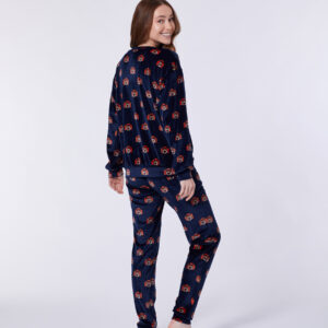 Woody Meisjes-Dames sweater en broek, blauw camera