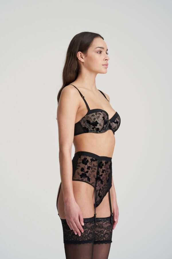 GLORIA zwart luxe string
